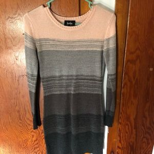 By & By SMALL Long Sleeve Striped Sweater Dress